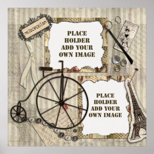 Paris Vacation Digital Scrapbooking Posters