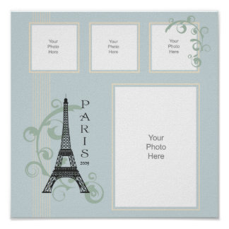 Paris Vacation Scrapbook Page Poster