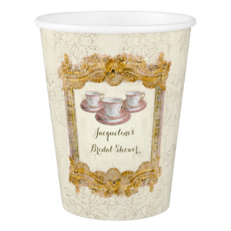 Paris Versailles Palace Tea Party Bridal Shower Paper Cup