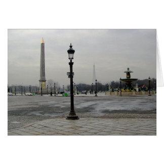 París vertical tarjeta de felicitación