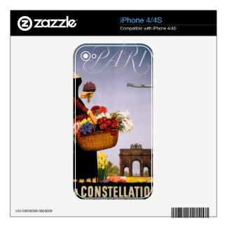 Paris via Constellation Decal For The iPhone 4S