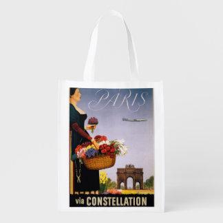 Paris via Constellation Grocery Bag
