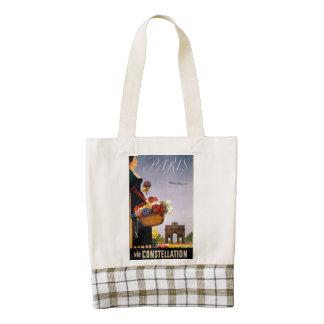 Paris via Constellation Zazzle HEART Tote Bag