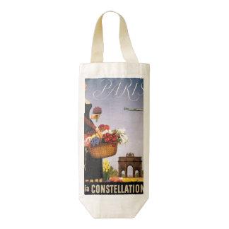 Paris via Constellation Zazzle HEART Wine Bag