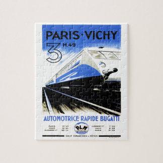 Paris-Vichy Train Jigsaw Puzzle