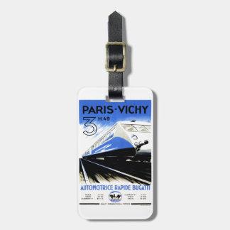 Paris-Vichy Train Luggage Tag