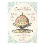 Paris Victorian Vintage French Bakery Large Business Cards (Pack Of 100)