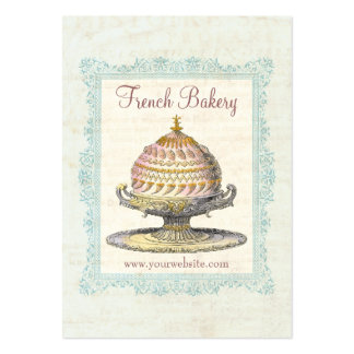 Paris Victorian Vintage French Bakery Large Business Card