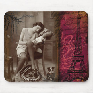 Paris Vintage 1920's Flapper Lady Mouse Pad