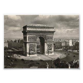 Paris vintage Arc de Triomphe 1943 Photo Print