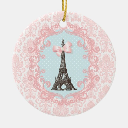 Paris Vintage Ceramic Ornament