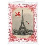 Paris Vintage Cupid Valentine Greeting Card