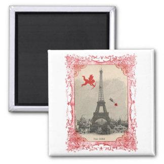 Paris Vintage Cupid Valentine Magnet