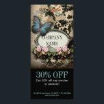 """Paris vintage floral butterfly SPA beauty salon Rack Card<br><div class=""""desc"""">Paris vintage floral butterfly SPA beauty salon business cards and promotional flyers</div>"""