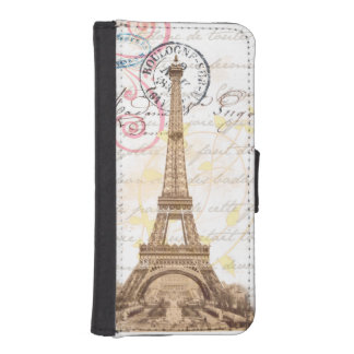 Paris Vintage French Writing Pink Wallet Case iPhone 5 Wallet