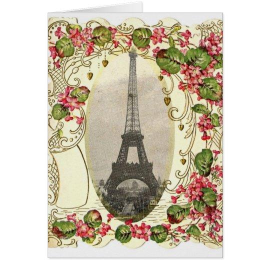 Paris Vintage Love Card