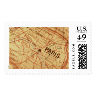PARIS Vintage Map Postage