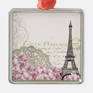Paris vintage metal ornament