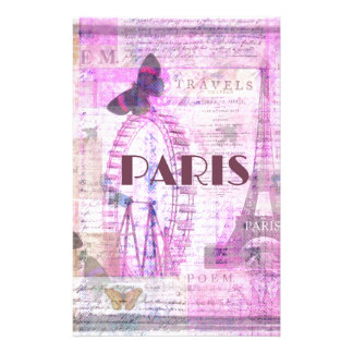 PARIS Vintage Parisian Theme art Custom Stationery
