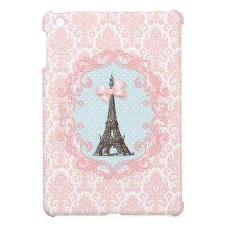Paris Vintage Pink Damask iPad Mini Cover