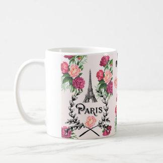 Paris Vintage Pink Roses Mug