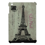 Paris Vintage Postcard Eiffel Tower Case For The iPad Mini