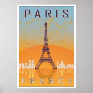 Paris vintage poster póster