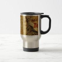 Paris vintage poster. travel mug