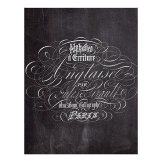 paris vintage scripts french country chalkboard letterhead