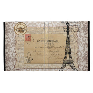 Paris Vintage Shabby Chic Eiffel Tower iPad Cases
