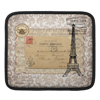 Paris Vintage Shabby Chic Eiffel Tower Sleeve For iPads