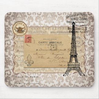 Paris Vintage Shabby Chic Eiffel Tower Mousepads
