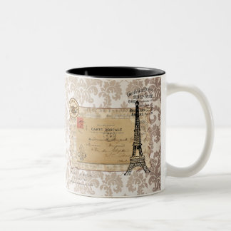 Paris Vintage Shabby Chic Eiffel Tower Coffee Mugs