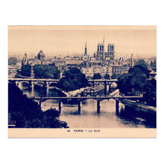 Paris Vintage Sights Postcard