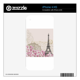 Paris vintage skin for the iPhone 4