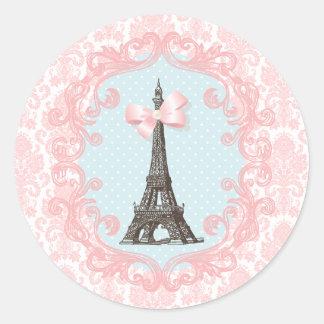 Paris Vintage Classic Round Sticker