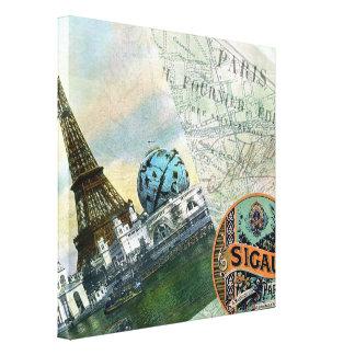 Paris Vintage Travel Canvas Print