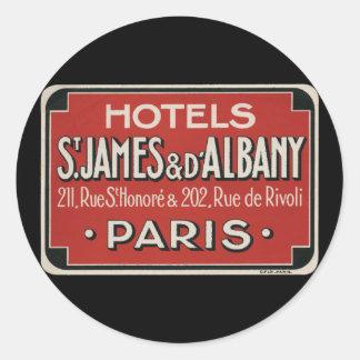 Paris Vintage Travel Luggage Label