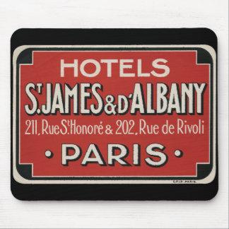 Paris Vintage Travel Luggage Label Mouse Pads