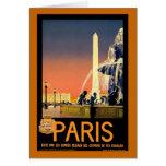 Paris Vintage Travel Poster Card