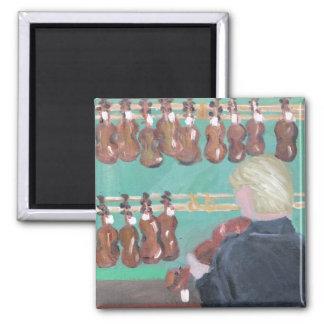 Paris Violin Shop 2 Inch Square Magnet