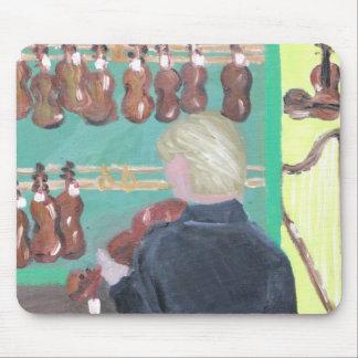 Paris Violin Shop Mouse Pad