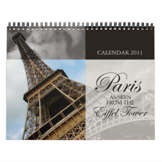París vista de la torre Eiffel - calendario 2011
