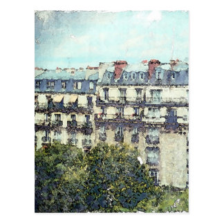 Paris, Water Color Post Card