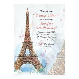 Paris Watercolor Invitation