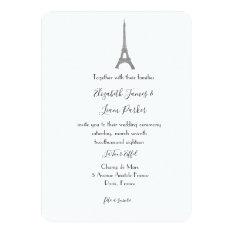Paris Wedding Invitation at Zazzle