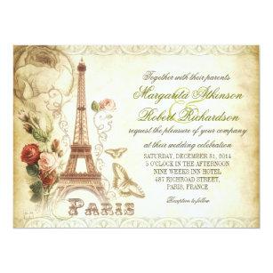 Paris Wedding Invitations Zazzle
