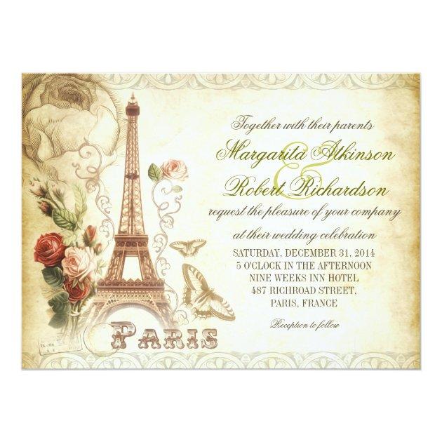 Paris Wedding Invitations Zazzle Com