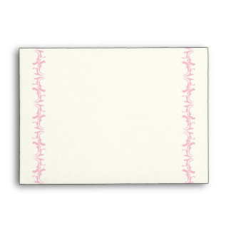 Paris wedding pink Eiffel Tower on ivory envelope