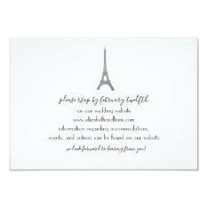Paris Wedding Response Card at Zazzle